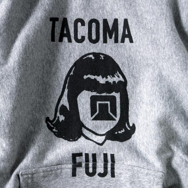 TACOMA FUJI RECORDS LOGO MARK HOODIE (12oz)  designed by Jerry UKAI & TACOMA FUJI RECORDS