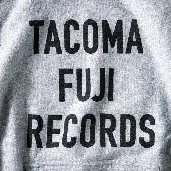 TACOMA FUJI RECORDS LETTER PRINT HOODE (12oz)  designed by Jerry UKAI & TACOMA FUJI RECORDS