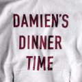 DAMIEN'S DINNER TIME HOODIE (12oz) designed by Jerry UKAI & TACOMA FUJI RECORDS