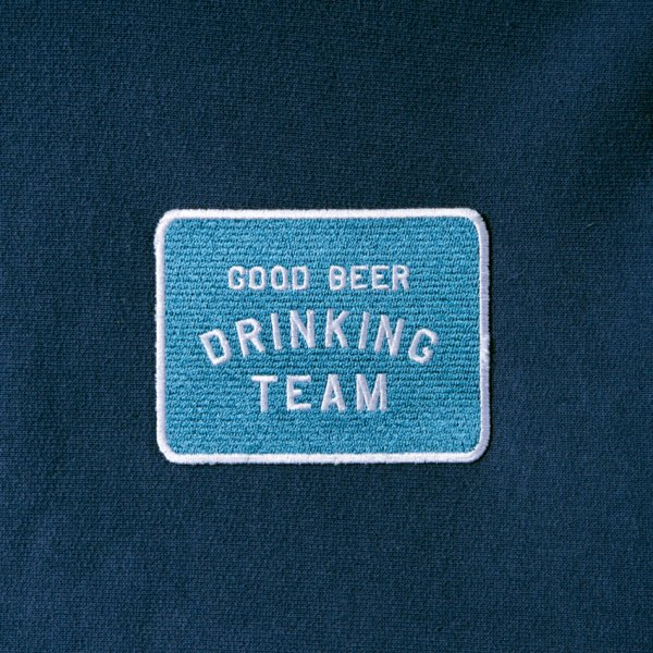 GOOD BEER DRINKING TEAM PATCH HOODIE designed by Shuntaro Watanabe