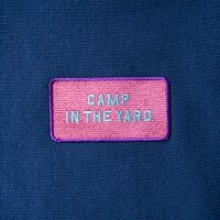 CAMP IN THE YARD PATCH HOODIE designed by Jerry UKAI