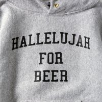 HALLELUJAH FOR BEER HOODIE designed by Shuntaro Watanabe