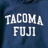 TACOMA FUJI RECORDS COLLEGE LOGO HOODIE designed by Shuntaro Watanabe