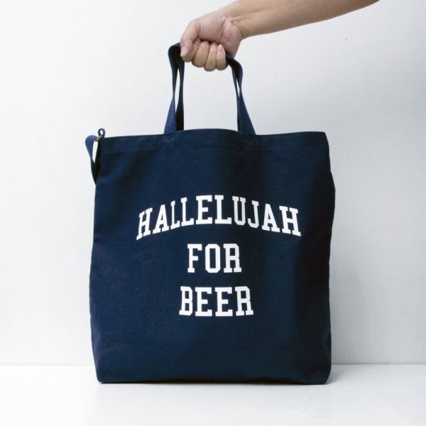 HALLELUJAH FOR BEER TOTE designed by Shuntaro Watanabe