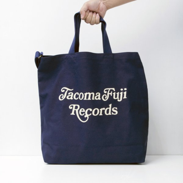 TACOMA FUJI RECORDS CURSIVE LOGO TOTE designed by Shuntaro Watanabe