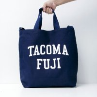 TACOMA FUJI RECORDS COLLEGE LOGO TOTE designed by Shuntaro Watanabe