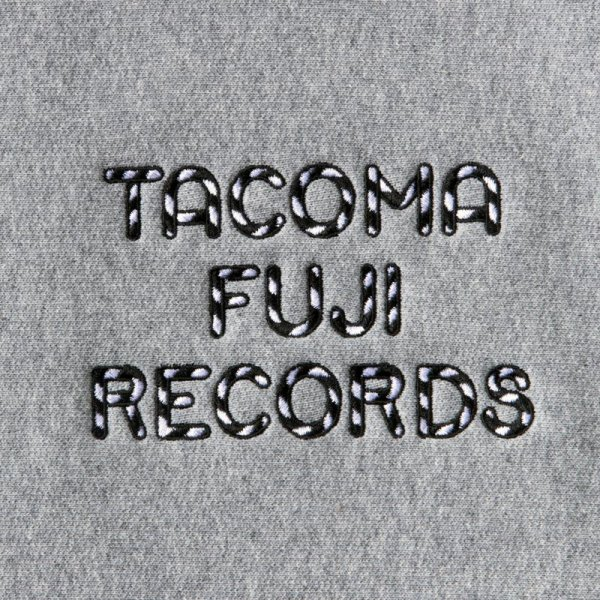 TACOMA FUJI RECORDS ZEBRA PATTERN LOGO SWEAT  designed by Jerry UKAI