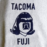 TACOMA FUJI RECORDS LOGO MARK SWEAT designed by Jerry UKAI & TACOMA FUJI RECORDS