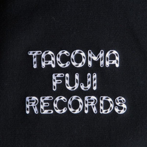 TACOMA FUJI RECORDS ZEBRA PATTERN LOGO HOODIE designed by Jerry UKAI