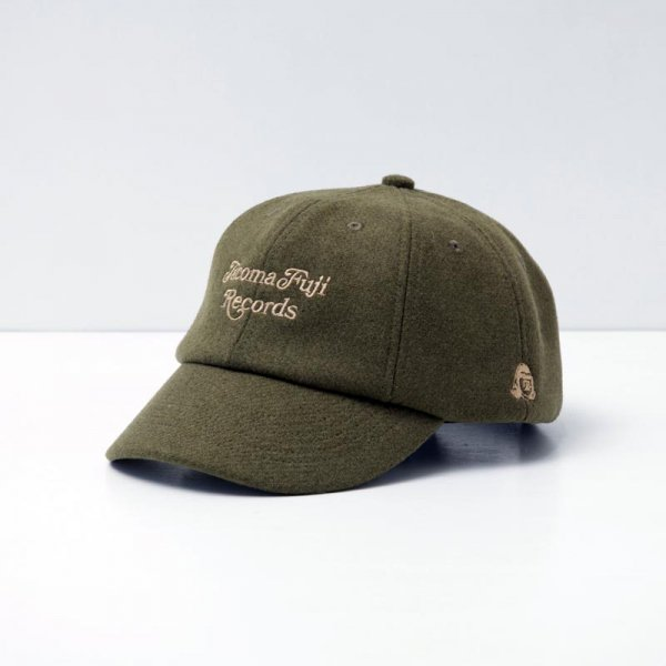 TACOMA FUJI CURSIVE LOGO CAP designed by Shuntaro Watanabe