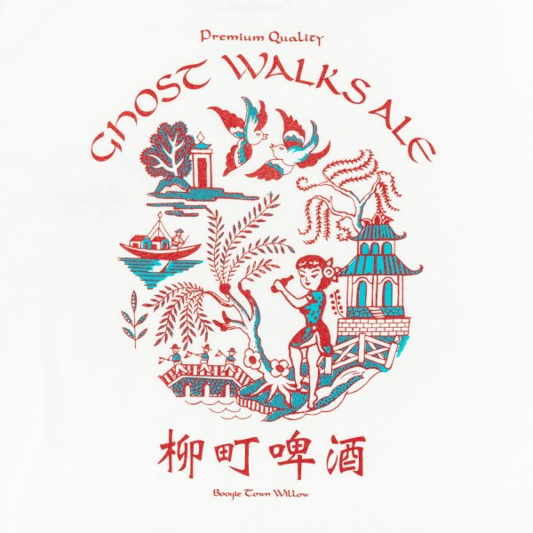 GHOST WALKS ALE LS shirt designed by Jerry UKAI