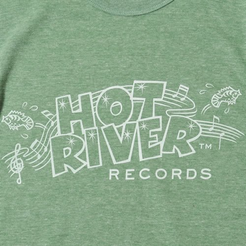 HOT RIVER RECORDS LOGO Tshirt designed by Jerry UKAI