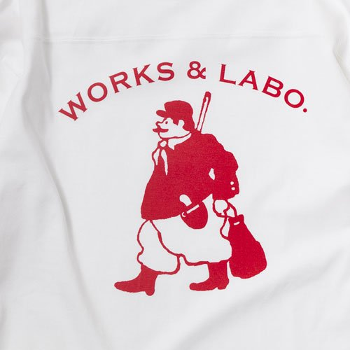 WORKS & LABO./Monsieur Musique Jardin Football Tee designed by Jerry UKAI
