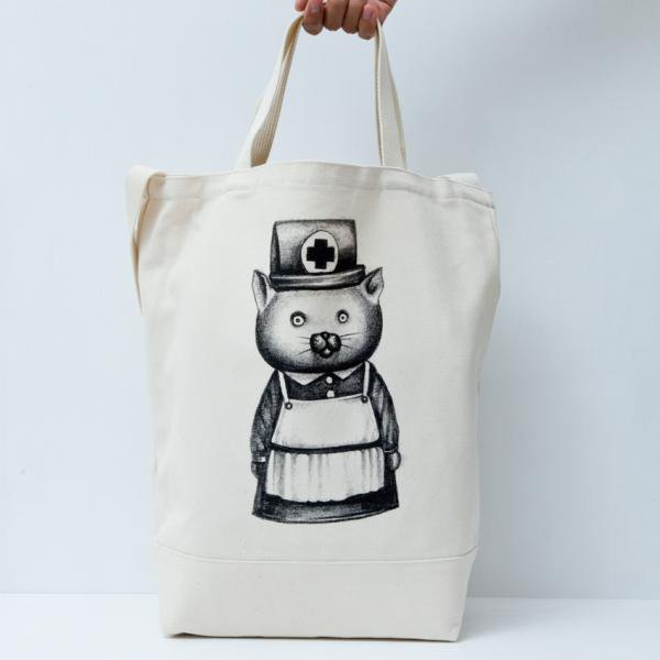 猫ナース TOTE BAG designed by Tomoo Gokita