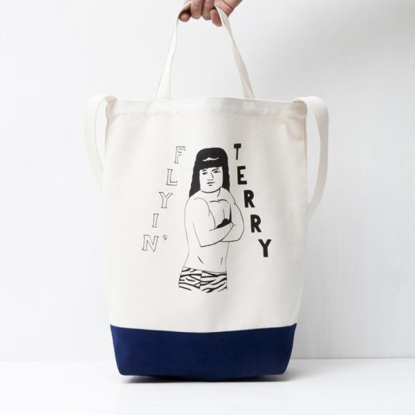 FLYIN' TERRY TOTE BAG designed by Tomoo Gokita