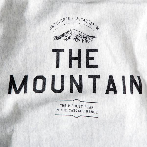 THE MOUNTAIN ZIP Hoodie (12oz) designed by Jerry UKAI & TACOMA FUJI RECORDS