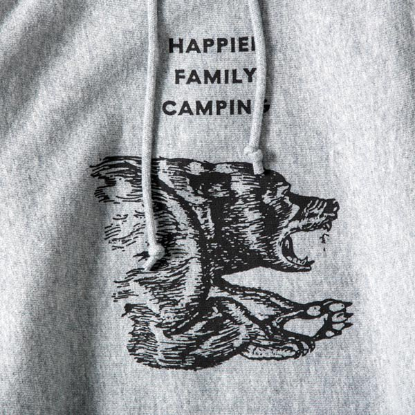 THE SAWYERS / HAPPIER FAMILY CAMPING Hoodie (12oz) designed by Tomoo Gokita