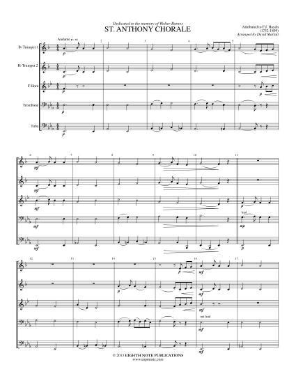 金管5重奏]セント・アンソニー...