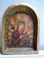 ミチョアカン ウッドレリーフ レタブロ [聖母ペルペトゥオ]  民芸品