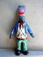 メキシコ パペルマチョ フダス  [チャロ ブロ 張り子人形