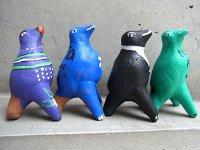 オクミチョ 陶器人形  [ポジート ホイッスル 笛]民芸品