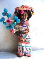 メキシコ 人形 インテリア [ウィチョリート] ビンテージ