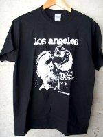 ブコウスキー Tシャツ [ロスアンゼルス ホーリードランカー] 黒