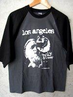 ブコウスキー Tシャツ [ロスアンゼルス ホーリードランカー] 七分袖