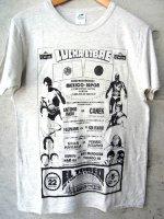 ルチャリブレ Tシャツ マスクマン [アントニオ猪木vsカネック]  グレー&ベージュ