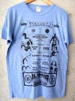 ルチャリブレ Tシャツ マスクマン [アントニオ猪木vsカネック]  ブルー&レッド