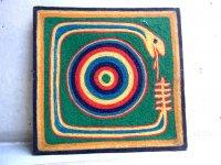ウィチョール ネアリカ 羊毛絵 [セルピエンテ 蛇] 民芸品