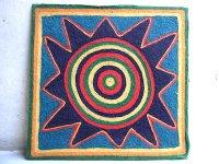 ウィチョール ネアリカ 羊毛絵 [ソル 太陽] 民芸品