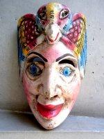 ウッドマスク 木製の仮面 民芸品 [鳥を被った征服者] ゲレーロ