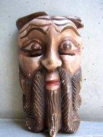 ウッドマスク 木製の仮面 民芸品 [宣教師] ゲレーロ