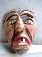 ウッドマスク 木製の仮面 民芸品 [歯抜け男] ゲレーロ