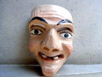 ウッドマスク 木製の仮面 民芸品 [老人]  ミチョアカン