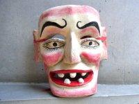 ウッドマスク 木製の仮面 民芸品 [オカマ]  ミチョアカン