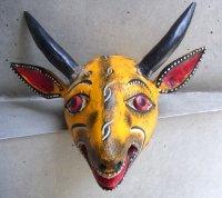 ウッドマスク 木製の仮面 民芸品 [シカ]  ゲレーロ