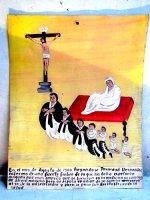 アート エクスボト 奉納画 [キリスト 病の克服] ブリキ絵