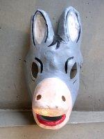 メキシコ 張り子の仮面 マスク [ロバ グレー] 民芸品