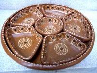 メキシコ 素焼き皿 [サルサ&タコス コンビプレート] メキシコ料理