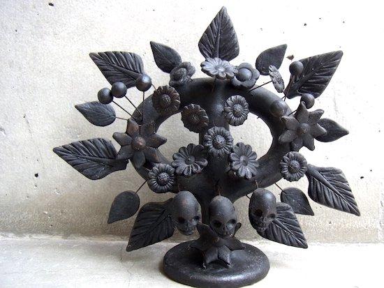 生命の樹 ツリーオブライフ 陶器 [ブラック カラベラ]フォークアート