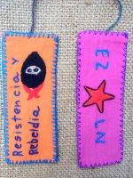 サパティスタ EZLN 刺繍 ミニタペストリー [短冊 その2]