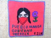 サパティスタ EZLN 刺繍 ミニタペストリー [レッド インディヘナ]