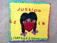 サパティスタ EZLN 刺繍 ミニタペストリー [イエロー インディヘナ]