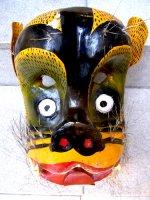 ウッドマスク 木製の仮面 民芸品 [ティグレ ゲレーロ]