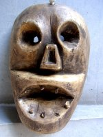 ウッドマスク 木製の仮面 民芸品 [ガイコツ オアハカ]  ビンテージ