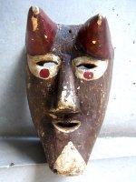 ウッドマスク 木製の仮面 民芸品 [ディアブロ オアハカ]  ビンテージ