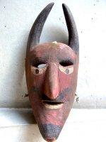 ウッドマスク 木製の仮面 民芸品 [ディアブロその2 オアハカ]  ビンテージ