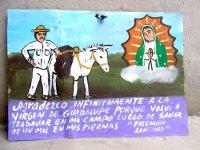アート エクスボト スモールサイズ  [ボノラ 馬と人] ブリキ絵